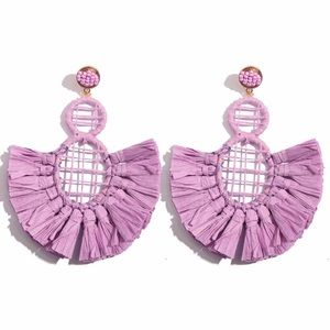 """Soho"" Purple Trendy Oversized Earrings"